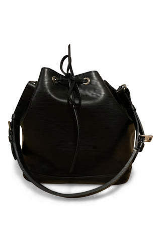 Louis vuitton noe bag in black epi leather petit nm