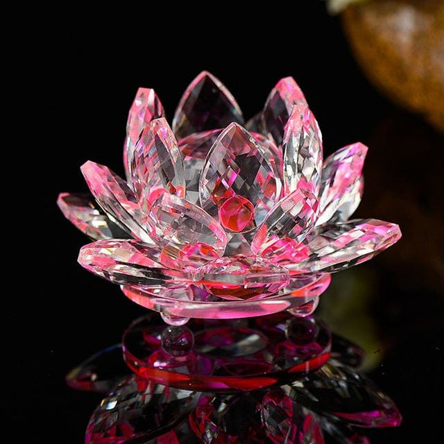 Crystal Lotus Flower Various Colors Available Zenup