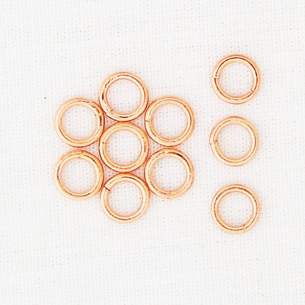 Copper Jump Rings Medium 16g Jewelry Supplies JSJ106 Jewelry Making & Jewelry Repair 6.5mm 10-Pack