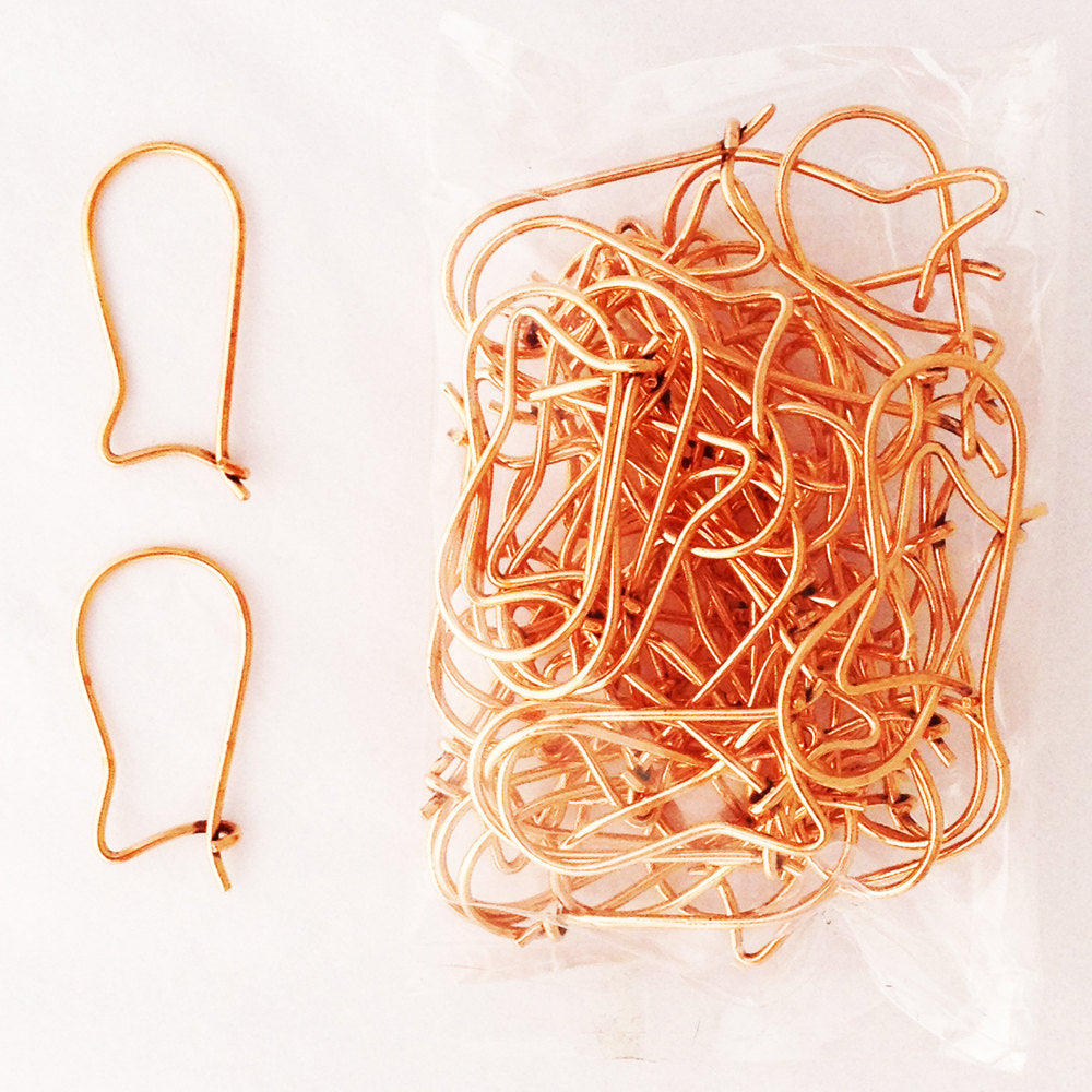 Solid Copper Earring Finding Kidney Wires Jse05 Bulk Pack Solid