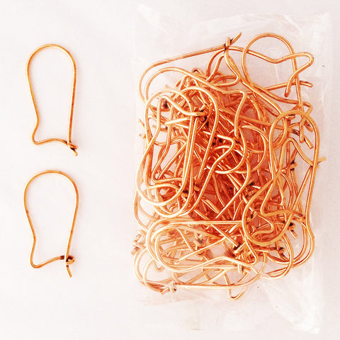 Solid Copper Earring Finding Kidney Wires JSE05 Bulk Pack Solid Copper Jewelry Supplies Jewelry Making and Jewelry Repair 5 Pairs celtic-copper-jewelry.myshopify.com