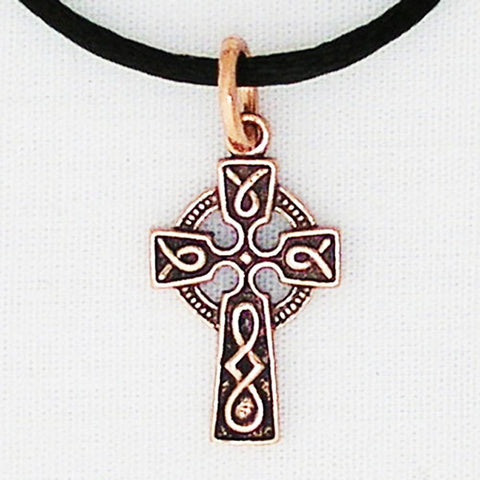 Celtic Copper Knot Work Cross Necklace Chain 30mm | Solid Copper Pendant celtic-copper-jewelry.myshopify.com