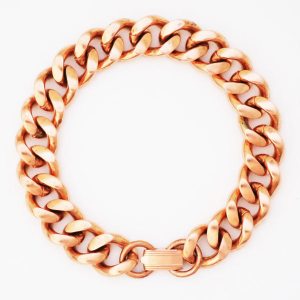 Cuban Curb Chain | Copper Jewelry Set | Solid Copper Chain Necklaces | Bracelet SET79 celtic-copper-jewelry.myshopify.com