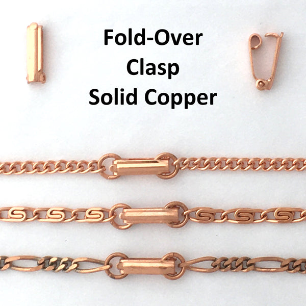Solid Copper Necklace Chain Fine 3mm Cuban Curb Chain Necklace NC71 Solid Copper Chain Necklace 24""