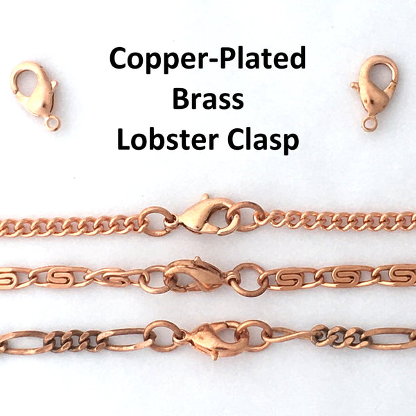 Solid Copper Necklace Chain Medium 5mm Cuban Curb Chain Necklace NC72 Pure Copper Curb Curb Chain Necklace 20 Inch Chain