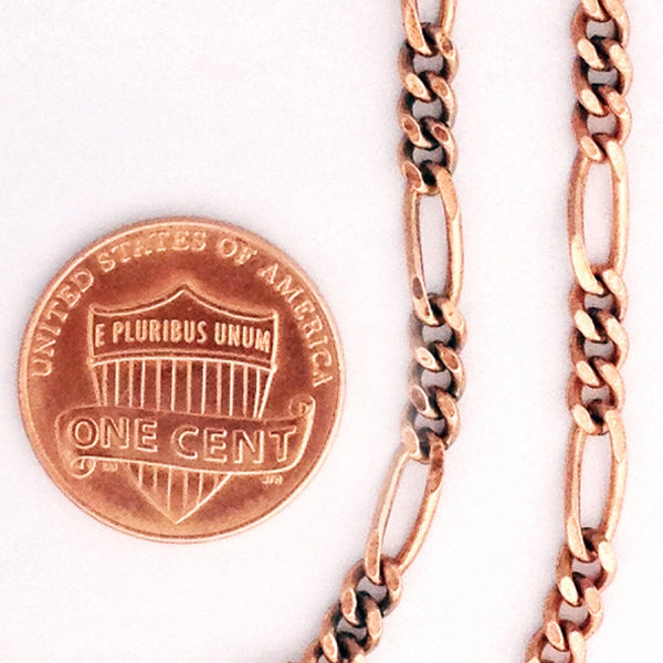 Custom Necklace Chain Fine Figaro Chain Necklace NC41 Solid Copper Necklace Custom Size Chain