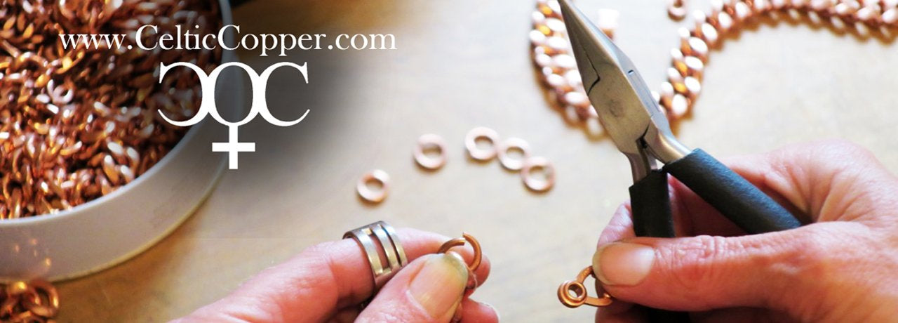 copper jewelry sets with gems