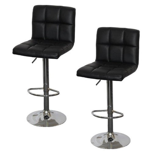 Quot Callie Quot Modern Gas Lift Bar Stool In Black Set Of 2