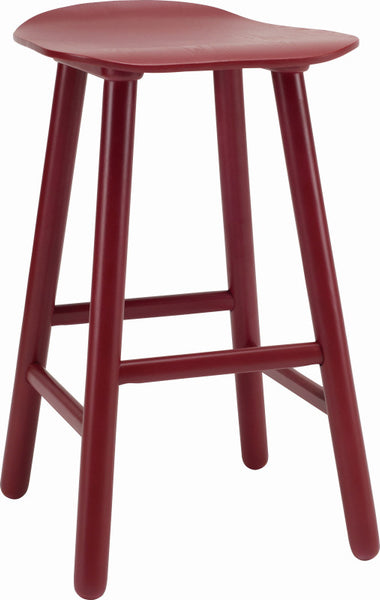 Quot Heidi Quot Maroon Red Kitchen Counter Stool With Solid Oak