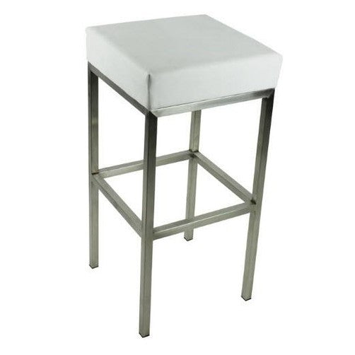 Quot Evelina Quot Modern Stainless Steel Bar Stool In White
