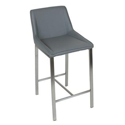 Super Orla Modern Stainless Steel Counter Stool In Grey Machost Co Dining Chair Design Ideas Machostcouk