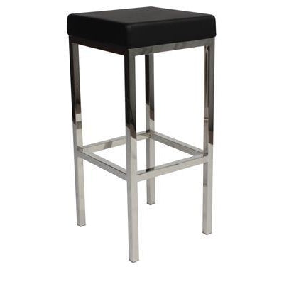 Miraculous Albany Stainless Steel Frame Backless Padded Bar Stool In Black Gmtry Best Dining Table And Chair Ideas Images Gmtryco
