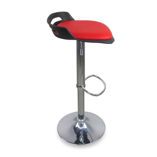 Quot Pescara Quot Modern Gas Lift Bar Stool In Black Red Simply