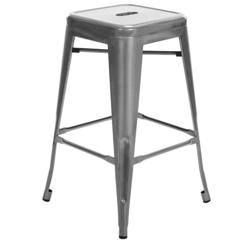 phillipa replica tolix kitchen counter stool 66cm in metallic set