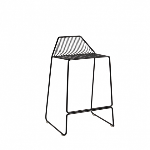 Quot Linear Quot Steel Frame Indoor Outdoor Counter Stool 65cm In