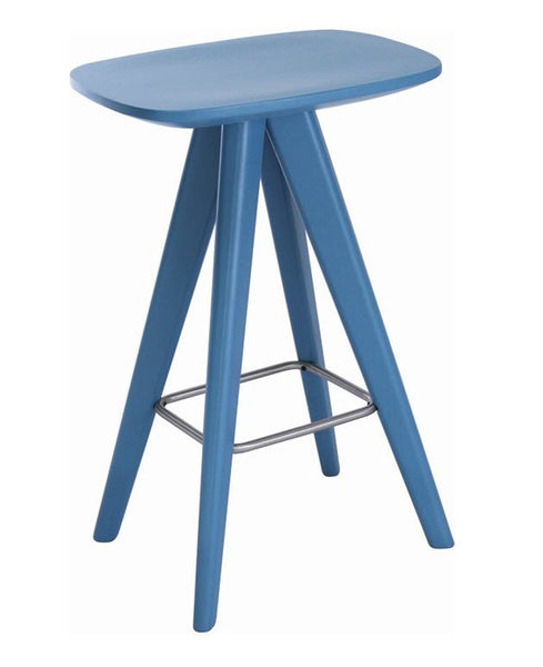 Quot Petite Quot Laquered Rubberwood Modern Kitchen Counter Stool