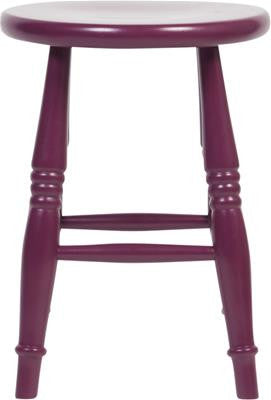 Quot London Quot Classic Turned Wood Table Stool 45cm In Purple