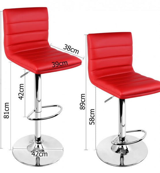 "High Backed Kitchen Chairs: ""Odette"" High Back Kitchen Bar Chair In Red (Set Of 2"
