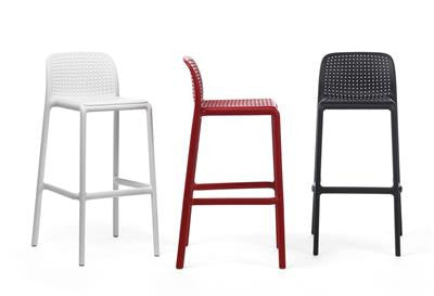 Kirra Stackable Resin Outdoor Bar Stool 76cm In Red Simply Bar Stools