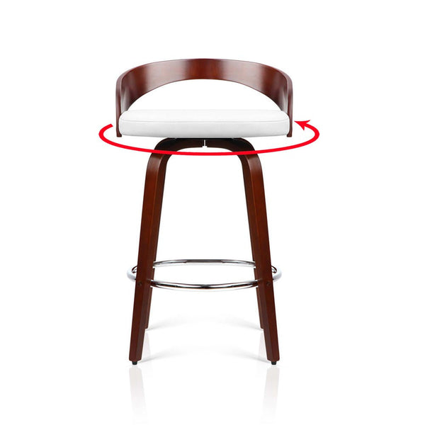 """""""Sasha"""" Cherry Wood Bar Stools With Chrome Footrest In"""