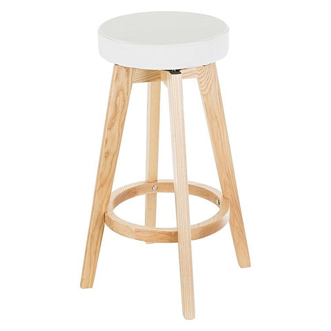 Brighton Ash Wood Scandi Kitchen Counter Stool In White Simply Bar Stools
