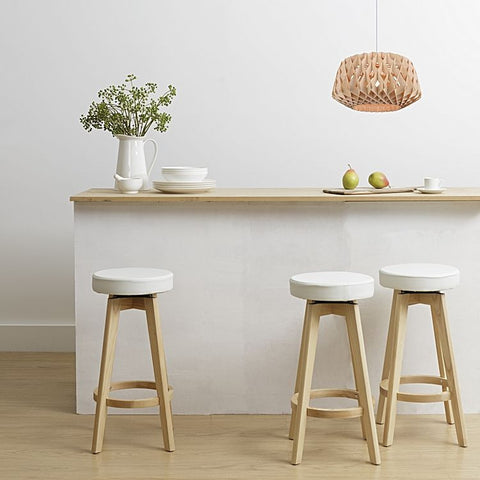 Fantastic Brighton Ash Wood Scandi Kitchen Counter Stool In White Bralicious Painted Fabric Chair Ideas Braliciousco