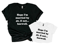 HOPE I'M MARRIED BY 40, IF NOT... HOEWELL