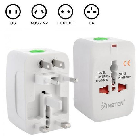 All-in-One Universal Travel AC Plug Adaptor (Pack of 3)