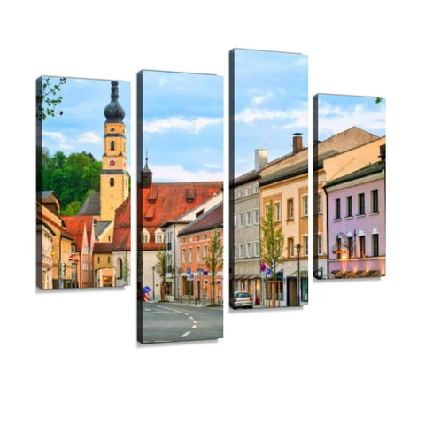 Canvas Wall Art Painting Pictures, Bavarian Decor, 4-Panel (Pack of 3)