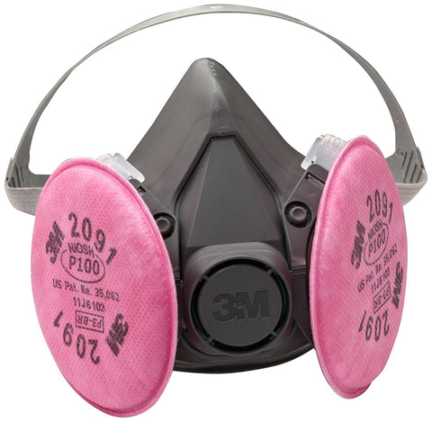 3M Half Mask Respirator 6291/07002, Respirator Connection Type: Bayonet, Mask Size: M