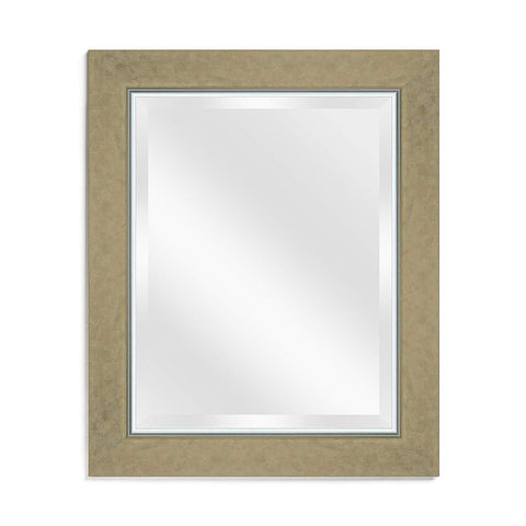 Decorative Wall Mirror, Rectangular, Vintage Gold Beveled Frame, 16x20