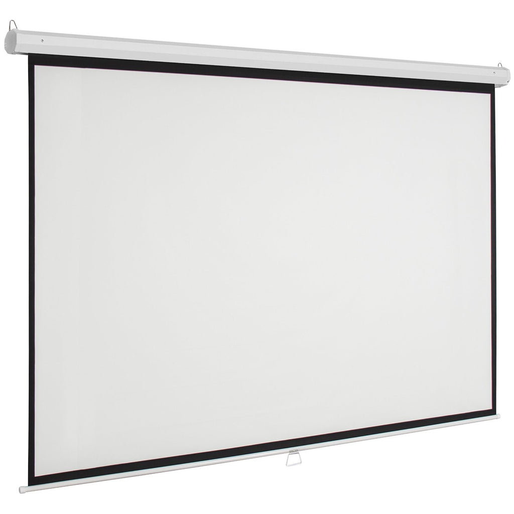 "Manual Projector Projection Screen Pull Down Screen, 96""L"