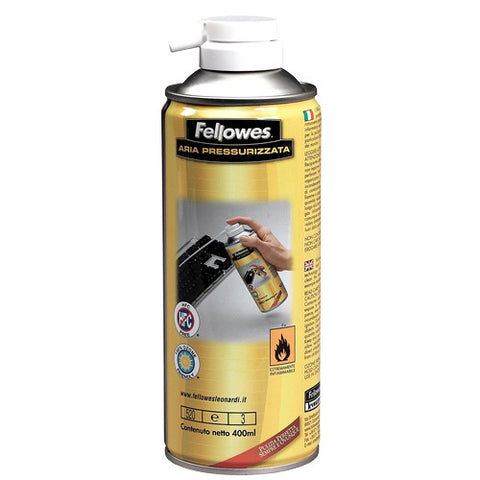 Fellowes Reversible Non-Flammable Air Duster, 13-1/2 Oz (400ml)