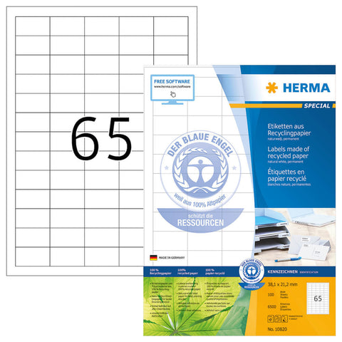 Herma 1.5x0.83 in Recycled Labels (pack of 6,500 pcs)