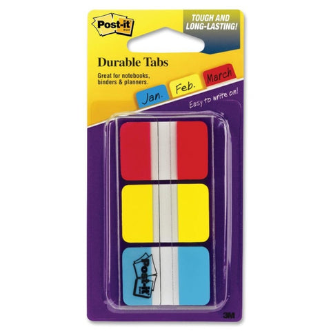 Post-it® Tabs, 2 inch, 3 Assorted Colors, 20 sheets/color (686)