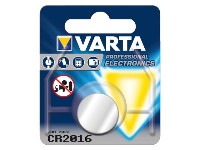 Varta CR2016, 90 mAh Battery Cell