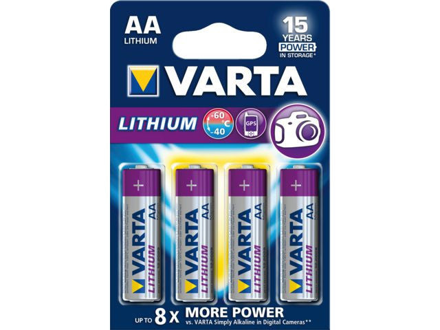 Varta AA Lithium Battery (Pack of 4 pieces)