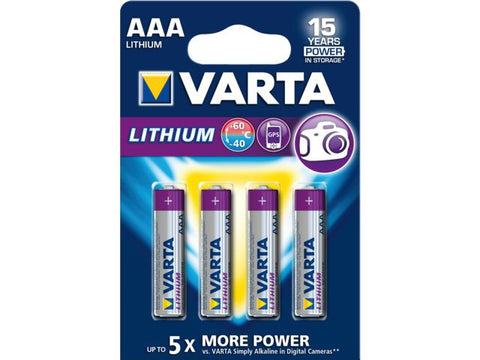 Varta AAA Lithium Battery (Pack of 4 pieces)