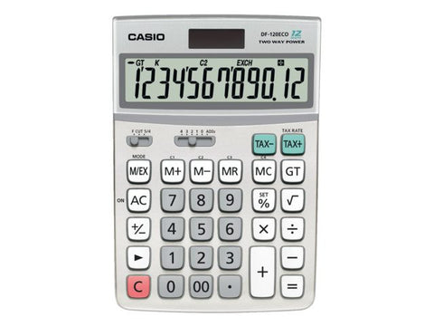 Casio DF-120 Eco Desk Calculator (12 Digits)
