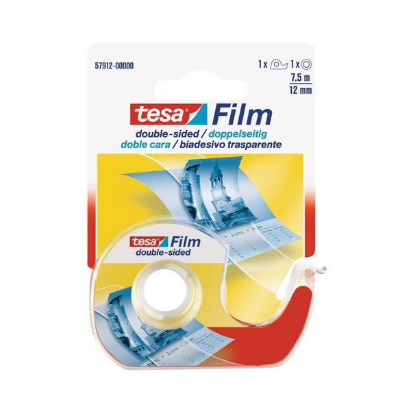 Tesa 12 mm x 24.6 ft Adhesive Tape with dispenser