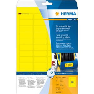 Herma 1.79x0.83 in Signalling Labels (pack of 1,200 pcs)