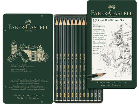 Faber Castel 9000 Art Set Pencils (12 Assorted sizes)