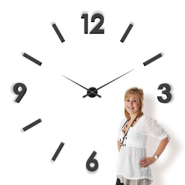 "TIQ 47""-79"" Foam Wall Clock"