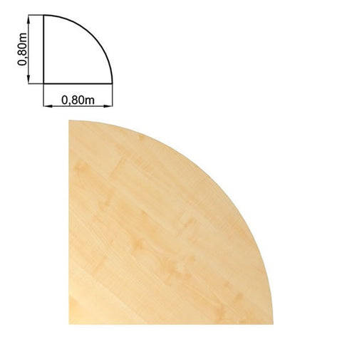 2 Quarters, Round Worktop for XE-Series Office Desks