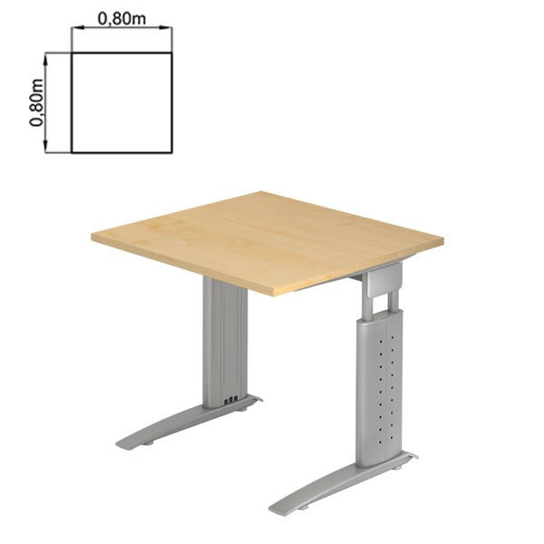 U-Series Rectangular, Height Adjustable Office Desk