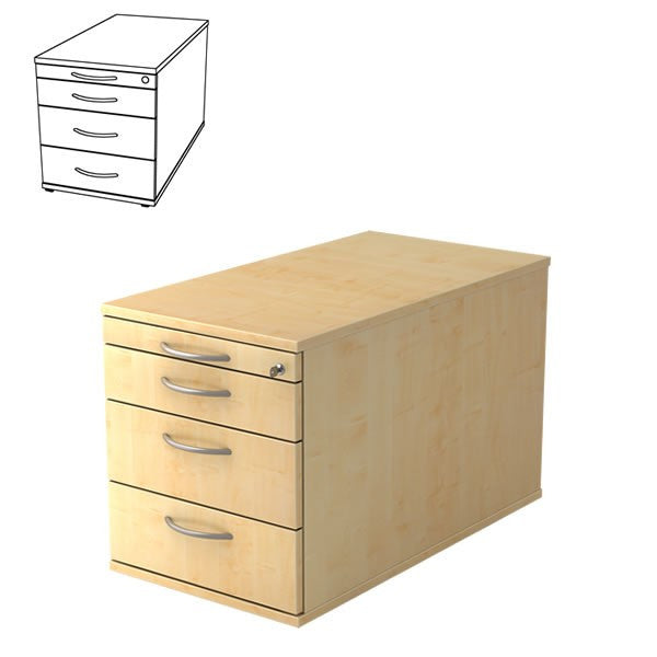 Sensational A Series Solid 4 Drawer Wooden Filing Cabinet With Lock Home Remodeling Inspirations Genioncuboardxyz
