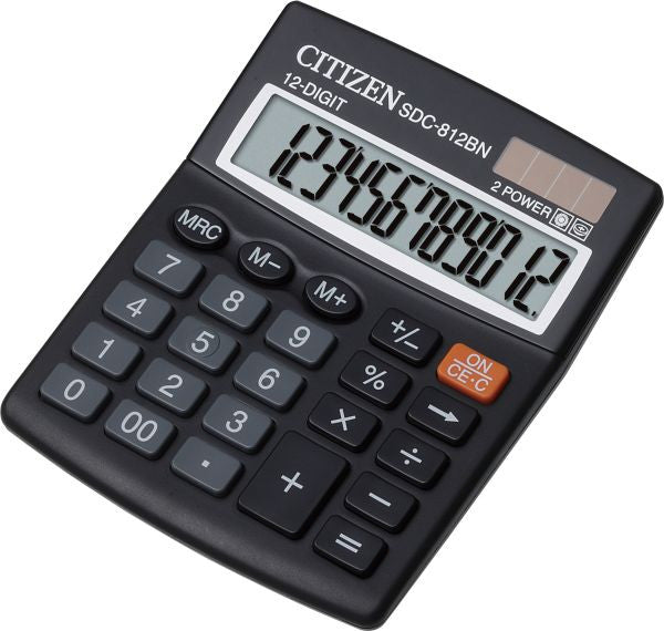 Citizen SDC 812BN Desk Calculator (12 Digits)