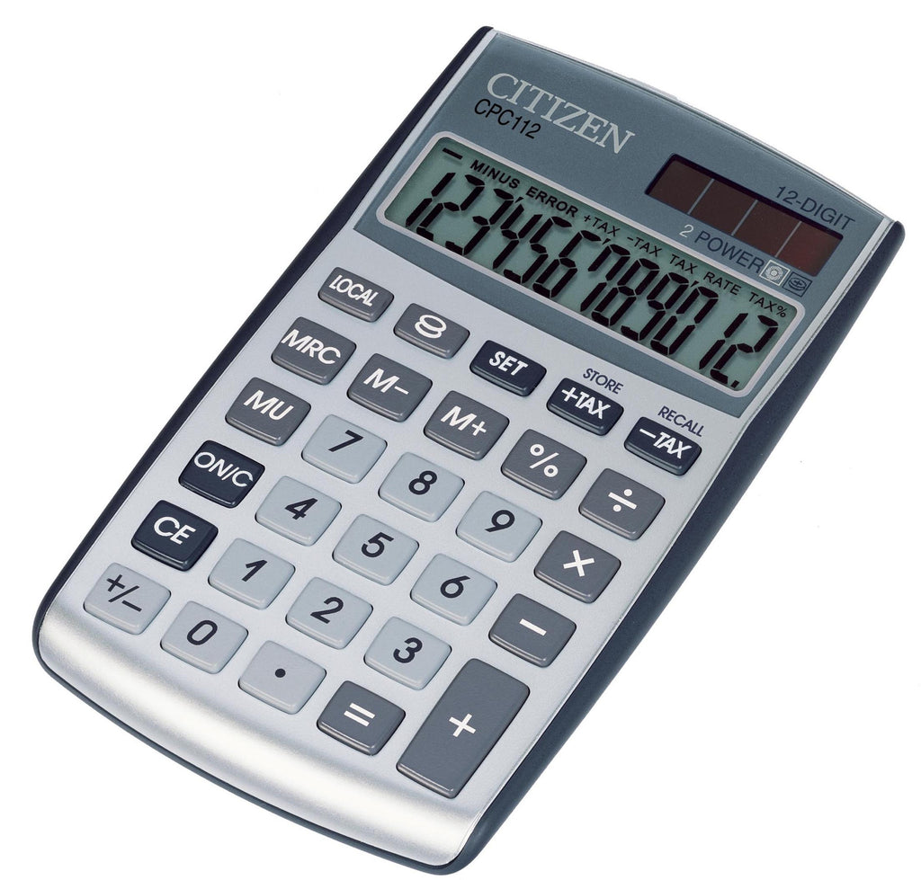 Citizen CPC112 Pocket Calculator (12 Digits)