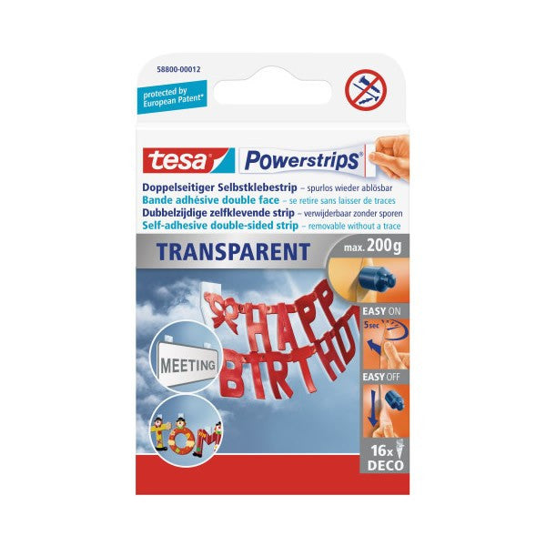 Tesa Powerstrips Deco Hanging Strips (box of 16 pieces)
