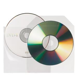 CD / DVD cover 10291, 125x125mm, non-adhesive, transparent, 25 pieces